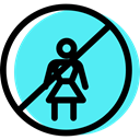 Circular, traffic sign, Obligatory, woman, signs Turquoise icon
