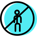 Obligatory, traffic sign, Circular, signs, pedestrian Turquoise icon
