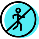 signs, pedestrian, traffic sign, Circular, Obligatory Turquoise icon