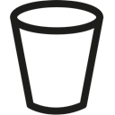 pail, Bucket, gardening, Tools And Utensils Black icon