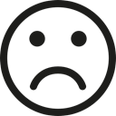 sadness, people, Gestures, sad, Face, smiley Black icon