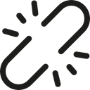 Chain, Tools And Utensils, linked, interface, unlink, Broken Black icon