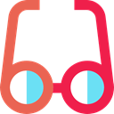 optical, Ophthalmology, vision, eyeglasses, reading glasses, Glasses, Tools And Utensils Crimson icon