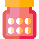 heal, medical, pills, Remedy, Pill, Medicines, healthy, medicine, healthcare Salmon icon