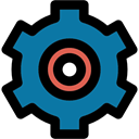 Gear, configuration, Tools And Utensils, settings, cogwheel DarkCyan icon