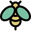 fly, insect, Animal Kingdom, Animals, Bee Black icon