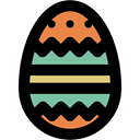 decoration, Easter Egg, food, egg, easter Black icon