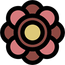 Flower, blossom, petals, rose, Botanical, nature Black icon