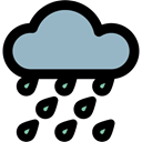 meteorology, Storm, rainy, Rain, sky, weather Black icon