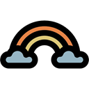 weather, Atmospheric, spectrum, sun, Rainbow, nature Black icon