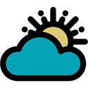 Bad Weather, sun, weather, Cloud, meteorology, Cloudy Black icon