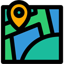 position, Geography, Map, Maps And Flags, Orientation, Gps, location, placeholder Black icon
