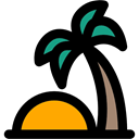 Oasis, tropical, Palm Tree, nature, Island, Desert Black icon