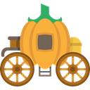 Fairy Tale, Cinderella Carriage, transport, Fantasy, pumpkin, legend, Folklore Black icon