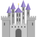 Monuments, Castle, legend, landscape, Fairy Tale, Folklore, Fantasy, Constructions, buildings, fortress, Castles, medieval DarkGray icon