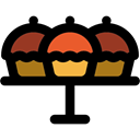 Bakery, sweet, Cupcakes, cupcake, Dessert, food, baked, muffin Black icon