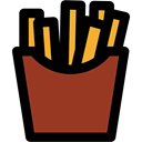 french fries, Potatoes, Fast food, junk food, food, Restaurant Brown icon