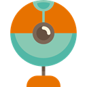 Videocall, technology, Cam, Videocam, video chat, Webcam DarkOrange icon