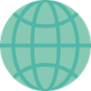 Maps And Flags, Geography, Earth Globe, World Grid, international, worldwide, Earth Grid, Planet Earth MediumAquamarine icon