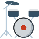 Drum, Orchestra, musical instrument, music, Percussion Instrument Black icon