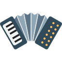 Accordions, music, Harmonic, Music Instruments, musical, Music Instrument, Accordion Black icon