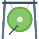 Music Instruments, oriental, Orchestra, Gong, music, Percussion Instrument DarkSeaGreen icon
