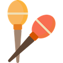maracas, tropical, shaker, music, musical instrument Black icon