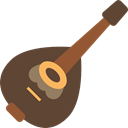 Mandolin, Folk, musical instrument, String Instrument, harmony, music DarkOliveGreen icon