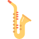 musical instrument, sax, jazz, music, Wind Instrument, saxophone Black icon