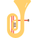 music, musical instrument, Wind Instrument, Tuba, Orchestra Khaki icon