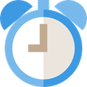 Tools And Utensils, Clock, timer, time, alarm clock SkyBlue icon