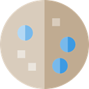 cookie, food, sweet, Bakery, Dessert LightGray icon
