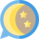 starry, Stars, Astronomy, nature, night, Moon Khaki icon