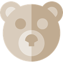 puppet, childhood, Fluffy, Animals, teddy bear LightGray icon