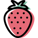 food, diet, Healthy Food, strawberry, vegetarian, vegan, Fruit, organic LightCoral icon