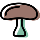 food, vegan, Mushroom, vegetarian, Healthy Food, organic, fungus, diet Black icon