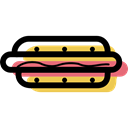 junk food, Fast food, Sausage, Hot Dog, food Black icon