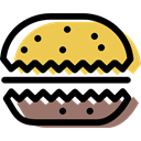 Dessert, Bakery, baker, food, Biscuit, cookie Black icon