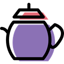 Tools And Utensils, kitchen, food, teapot, Coffee, tea MediumPurple icon