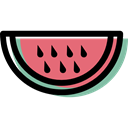 diet, Fruit, Healthy Food, vegetarian, food, vegan, watermelon, organic Black icon