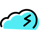 meteorology, Storm, sky, Rain, rainy, weather Turquoise icon