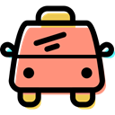 Automobile, transportation, Car, transport, taxi, vehicle LightSalmon icon