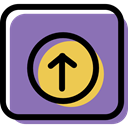 Multimedia, up arrow, Control, Multimedia Option, Arrows, buttons, web page, upload MediumPurple icon