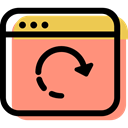 Multimedia, Redo, Browser, computing, interface, Multimedia Option, internet, Reload LightSalmon icon
