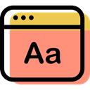 Browser, interface, Font, Multimedia Option, computing, internet, Multimedia LightSalmon icon