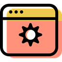 Browser, computing, internet, Multimedia, settings, interface, Multimedia Option LightSalmon icon
