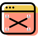 Multimedia, Close, Multimedia Option, cancel, interface, computing, internet, Browser LightSalmon icon
