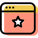 computing, Multimedia, interface, internet, Multimedia Option, star, Browser, Favorite LightSalmon icon