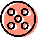 film reel, filming, cinema, video player, technology, movie LightSalmon icon