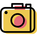 photo camera, picture, electronic, Multimedia, Device SandyBrown icon